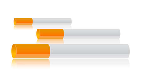Three cigarettes illustration design on a white background