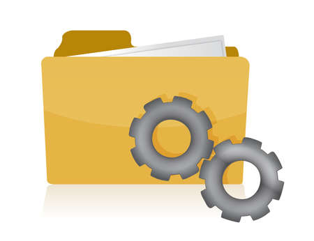 folder with gears illustration design on white background Vector
