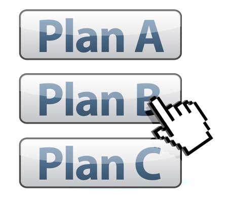 cursor selecting plan illustration design on white background Vector
