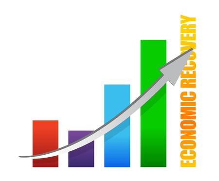 economy recovery chart arrow illustration design on white Vector