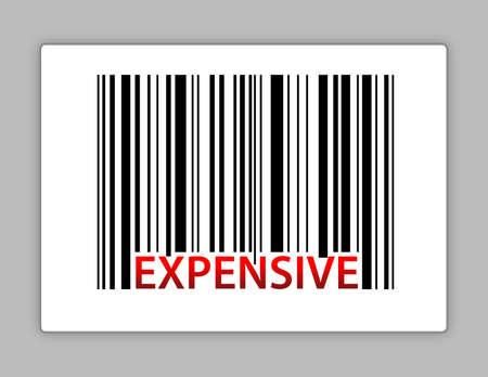 barcodes: expensive barcode illustration design on a label Illustration