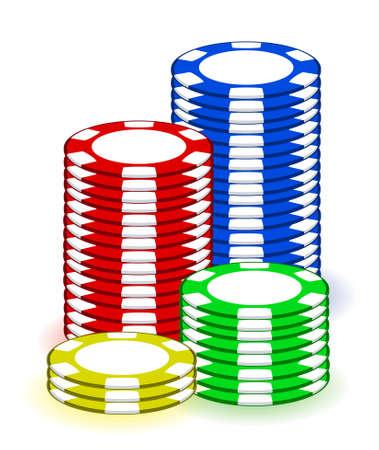 Casino poker chips illustration design on white background Stock Vector - 11621317