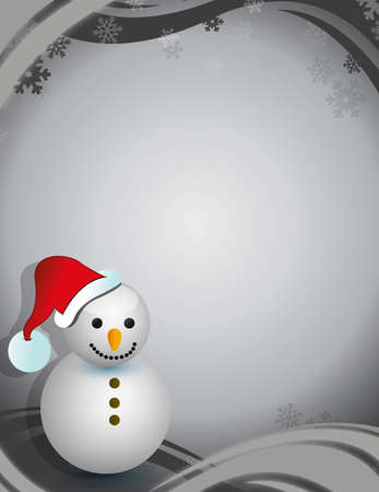 winter snowman christmas card illustration design Vector