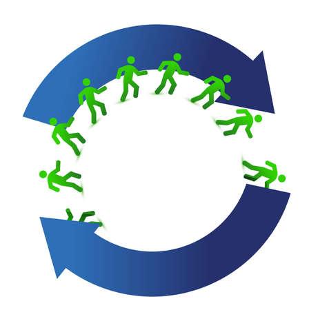 socialmedia networking movement cycle illustration design on white Illustration