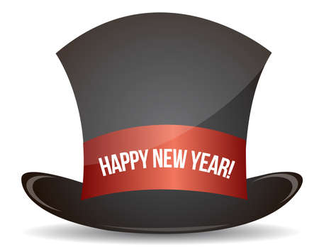 Magic happy new year hat illustration design on white Stock Vector - 11621322