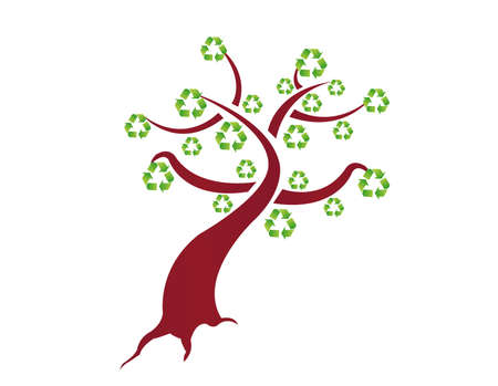 recycle tree illustration design on a white background Vector