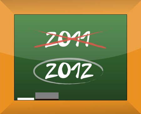 orthographic symbol: New year 2012 written on a blackboard illustration design Illustration