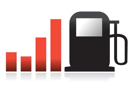 gas bar illustration graph design over white Illustration