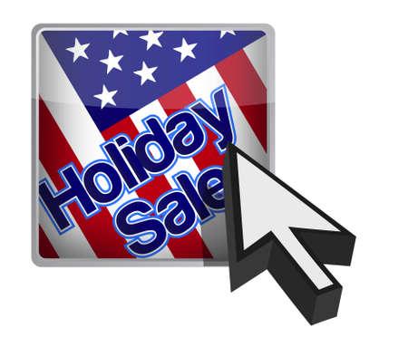 Vacanza pulsante vendita e di design, illustrazione freccia del cursore Archivio Fotografico - 11806479