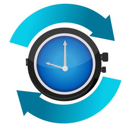 時間一定の運動概念イラスト デザイン  イラスト・ベクター素材