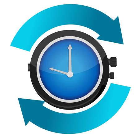 time constant movement concept illustration design Vector