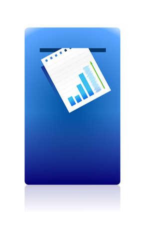 receptacle: mailing business documents concept illustration design Illustration