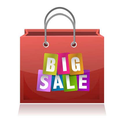 big sale shopping bag illustration design on white Stock Vector - 11806492