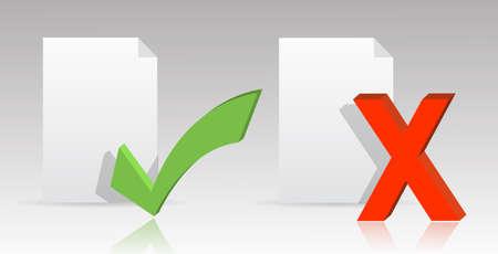 documentation: paper files symbols illustration design over a light gray background gradient  Illustration