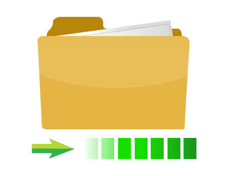 transferring folder icon concept illustration design on white Stock fotó - 11881197