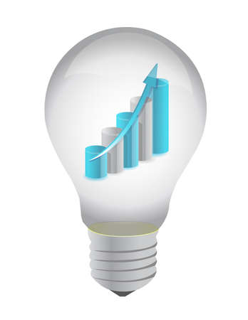 Bulb-und Business-Grafik, Illustration, Design innen auf wei� Lizenzfreie Bilder - 11881202