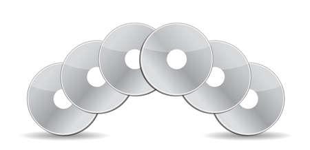 stack of cd  dvds illustration design over white