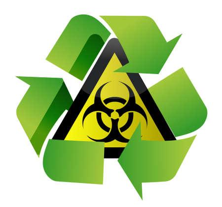 biohazard: recycle biohazard sign illustration design over white background