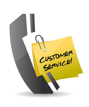 customer service telefoon concept illustratie ontwerp op wit