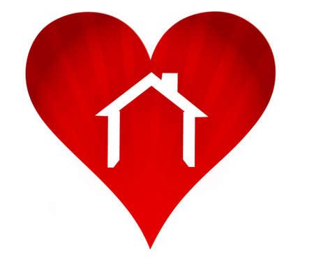 mooi huis metafoor illustratie ontwerp op een witte achtergrond Stock Illustratie