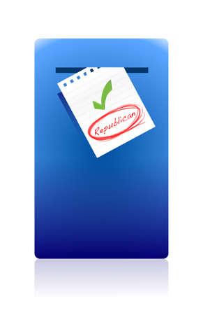 republican: buz�n de correo electr�nico y el dise�o de la ilustraci�n republicana voto