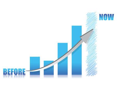 retour: zakelijke conceptie-blauw glas grafiek illustratie ontwerp