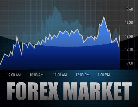 forex: stock diagram, business graph illustration design over a dark background Illustration