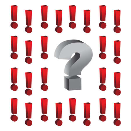 question mark around exclamation marks illustration design Vector