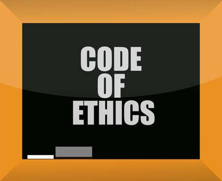 Code of ethics blackboard illustration design over white