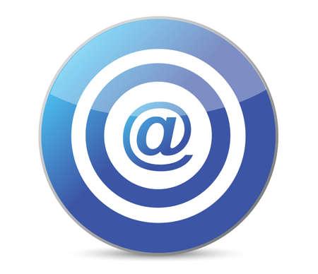 bullseye target internet illustration design over white background Stock Vector - 12496360