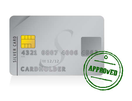 credit card approved illustration design over white Stock Vector - 12496428