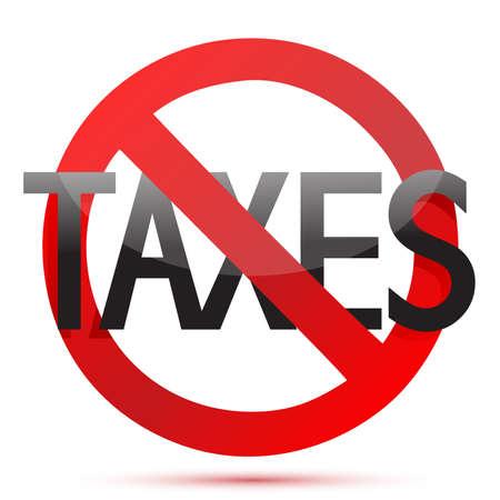 geen belastingen illustratie ontwerp op een witte achtergrond