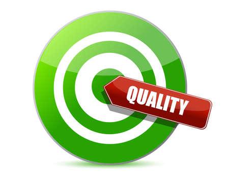 target quality illustration design over white design  Stock Vector - 12784711