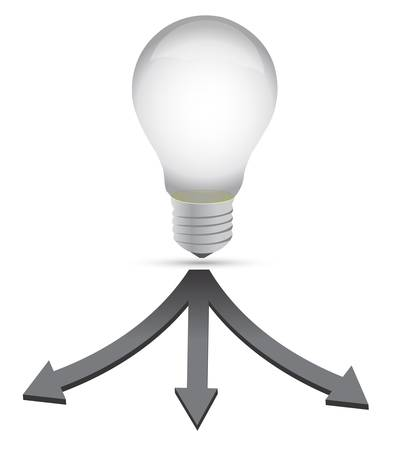 ideale Reiseziel Glühbirne Konzept Illustration über weiße Lizenzfreie Bilder - 12784739