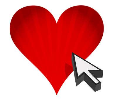 심장 및 화살표 - 인터넷 데이트 개념