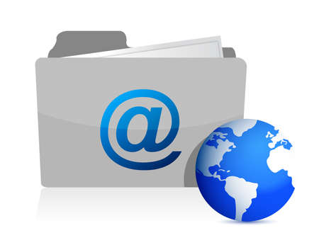 email folder and communication World illustration design Vector