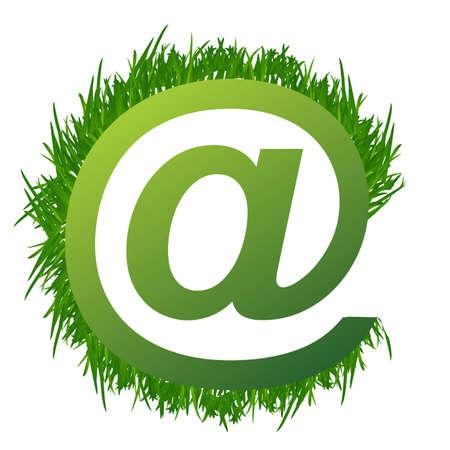 byte: grass at sign illustration design on white Illustration