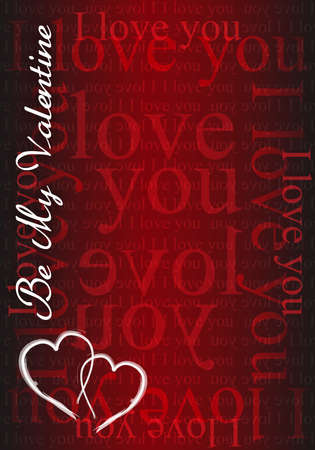 Be my Valentine - I love you card illustration design Vector