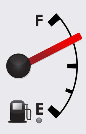 almost: Detailed Gas tank almost Full -  illustration design