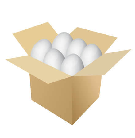 eggs inside a box illustration over white Stock Vector - 13699007