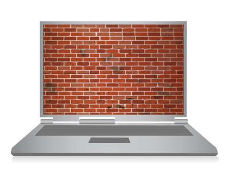 snoop: computer security illustration design over white background Illustration