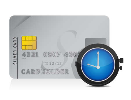 credit card debt: Financial safety concept illustration design over white
