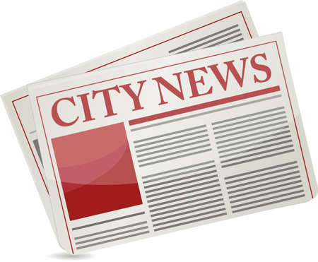 article icon: City news newspaper illustration design over a white background