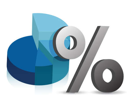 Cirkeldiagram en het percentage symbool illustratie ontwerp Stock Illustratie