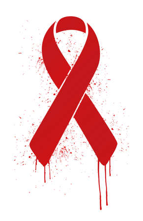 aids virus: aids ribbon sign illustration design over white background