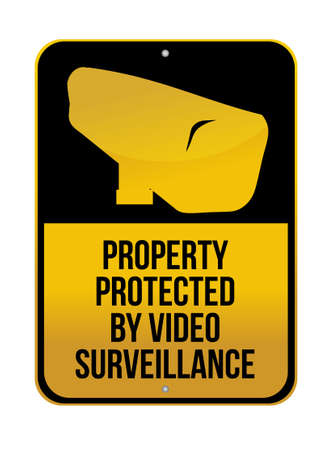 Camera Surveillance sign illustration design over a white background Stock Vector - 13729233