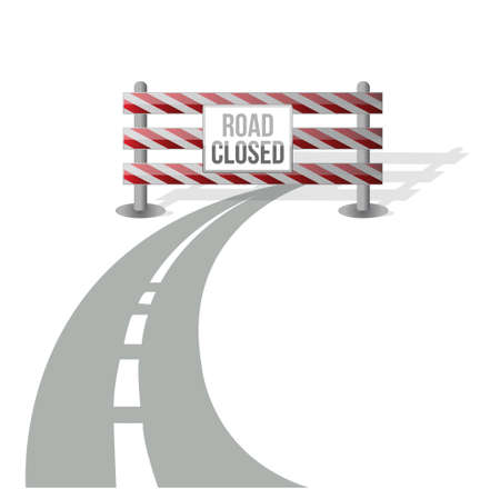 Closed road illustration design over white background Vector