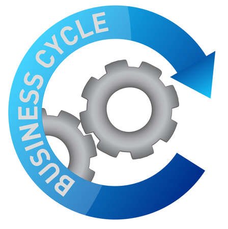 accomplishments: business gear cycle illustration design over white Illustration