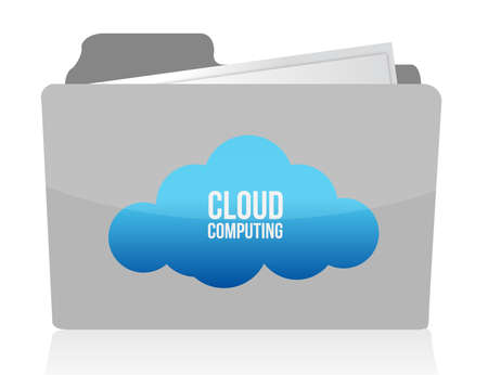 Cloud computing concept illustration design over white Stock Vector - 13759661