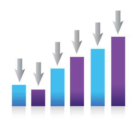 Growing bar chart from color blocks Stock Vector - 13759673